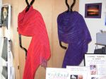 Shawls of perle cotton & rayon chenille