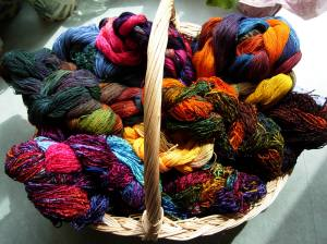 Basket of Painted Warps