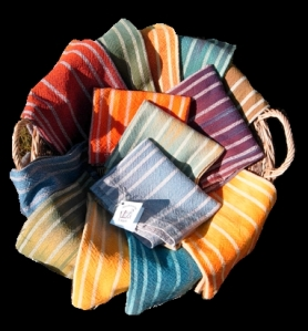 Hand dyed towels Aug