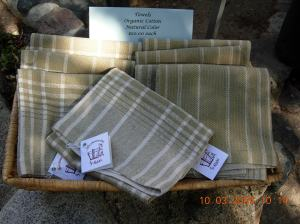 Organic natural color towels