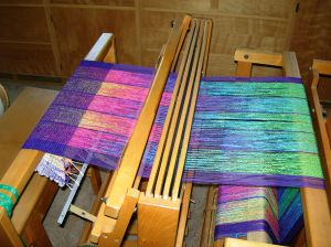 Lots of color excitement on the loom.